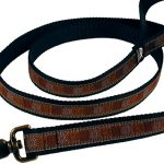Leather collars and leashes for dogs